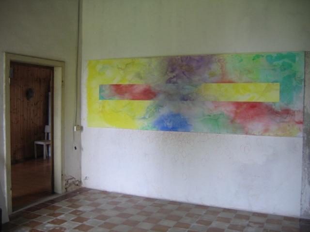 © Wilhelm Roseneder. Pilastro. Aquarell auf Papier/Watercolour on paper, 4.00x1.10 cm. Artfarm Pilastro. Pilastro di Bonavigo, Verona, Italy, 2005