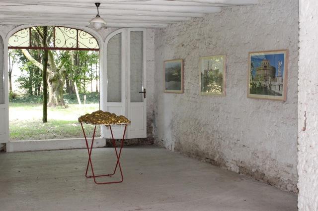 © Wilhelm Roseneder. Goldene Erweiterung/Golden expansion. Trans Pulmina. 2012. Artfarm Pilastro. Pilastro di Bonavigo (VR), Italy