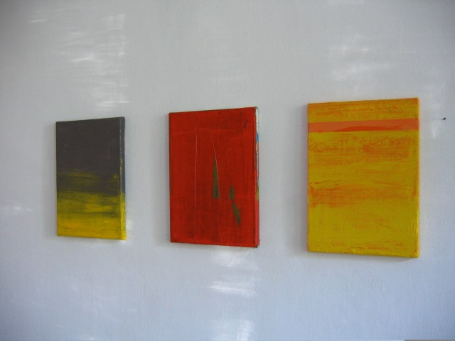 © Wilhelm Roseneder. Gelb, grau/Yellow, grey, 2004. o.T, 2004. Gelb, orange/Yellow, orange, 2004. Öl auf Leinwand/Oil on canvas, 35x25 cm