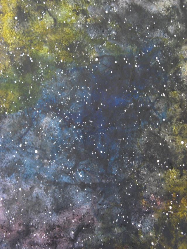 © Wilhelm Roseneder. Sternenbild, 2010. Aquarell, Tusche, Chinesische Tusche/Watercolour, ink, Chinese ink, 2.00x1.50 m