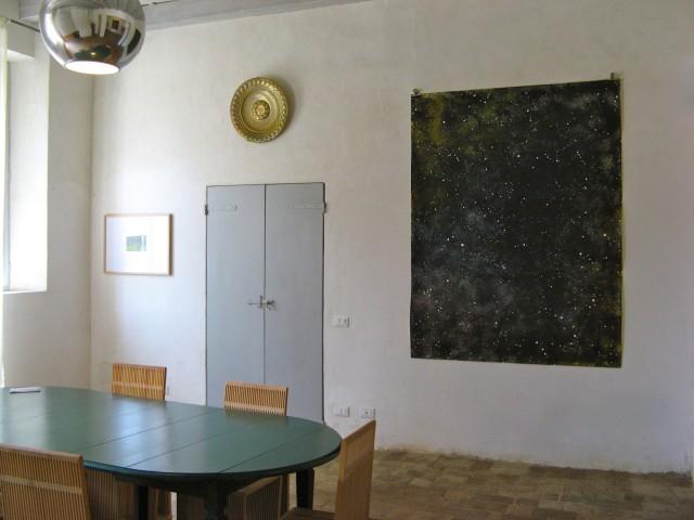 © Wilhelm Roseneder. Sternenbild/Constellation II, 2010. Aquarell, Tusche, Chinesische Tusche/Watercolour, ink, Chinese ink, 2.00x1.50 m. Pilastro di Bonavigo, Verona, 2011