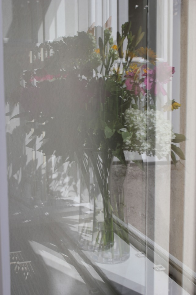 © Renate Egger. Spiegelung/Reflection. Blumen/Flowers, 2012. Installation, Fotografie/Installation, photography