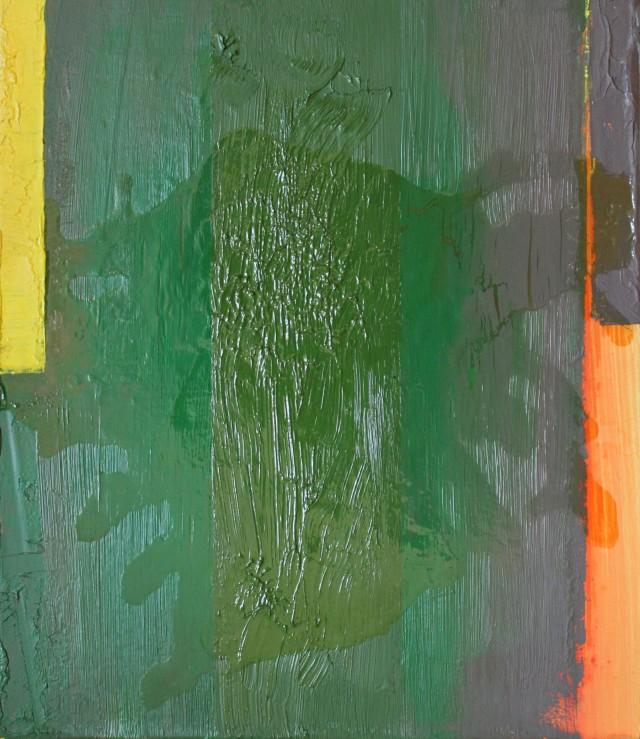 © Wilhelm Roseneder. Deir ez Zor, 2002. Öl auf Leinen, Karton/Oil on canvas, cardboard, 24,8x28,5 cm