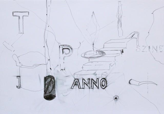 © Wilhelm Roseneder. Series: Notizen/Notes, 2012. Bleistift, Allstift, Kugelschreiber, Filzstift/Pencil, all pen, ball pen, felt pen, 42x30 cm