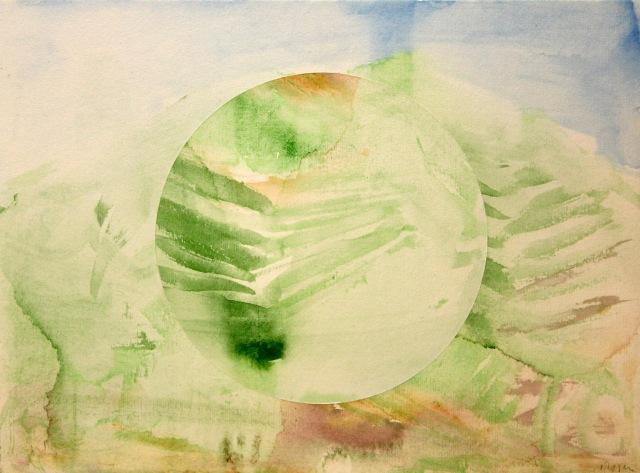 © Wilhelm Roseneder. Nahe bei Wien/Near Vienna, 1996/97. Aquarell auf Papier/Watercolour on paper, 23x31 cm