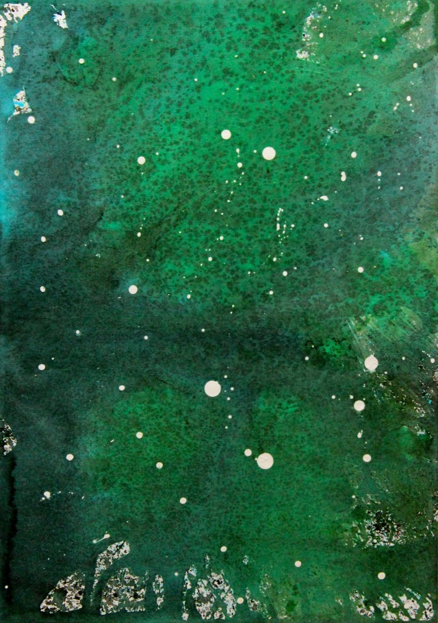 © Wilhelm Roseneder. Sternenbild/Constellation Nr. 4160710, 2010. Aquarell, chinesische Reibetusche auf Papier/Watercolour, Chinese ink on paper, 34x23,9 cm