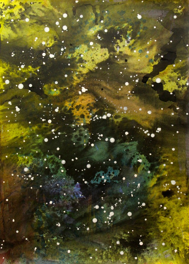 © Wilhelm Roseneder. Sternenbild/Constellation Nr. 6080610, 2010. Aquarell, chinesische Reibetusche auf Papier/Watercolour, Chinese ink on paper, 69.8x50 cm