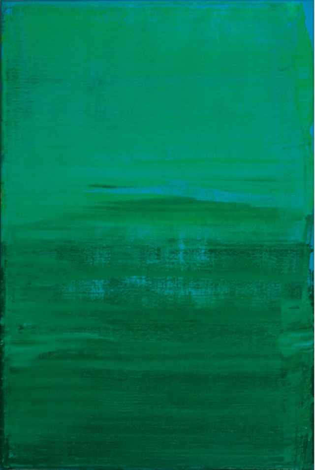 © Wilhelm Roseneder. Grün, Blau, Gelb/Green, Blue, Yellow 1-13. Öl auf Leinen/Oil painting on canvas, 2003