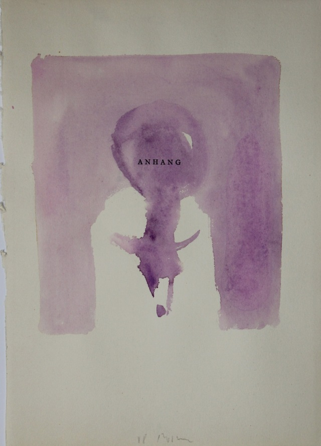 © Wilhelm Roseneder. Anhang, 1988. Aquarell auf Papier/Watercolour on paper, 28,6x20,3 cm