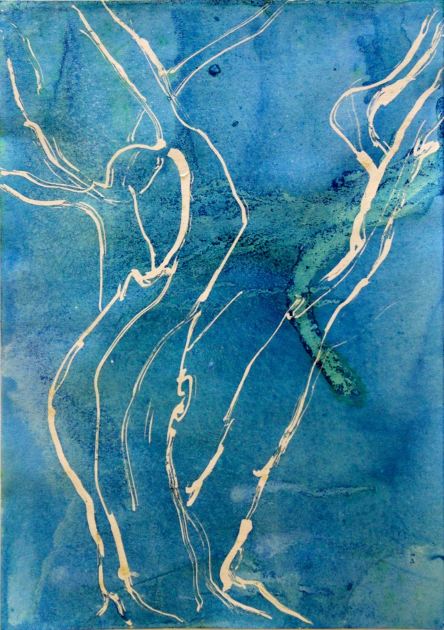 © Wilhelm Roseneder. Hang over II, 2010. Aquarell, Tusche auf Papier/Watercolor, ink on paper