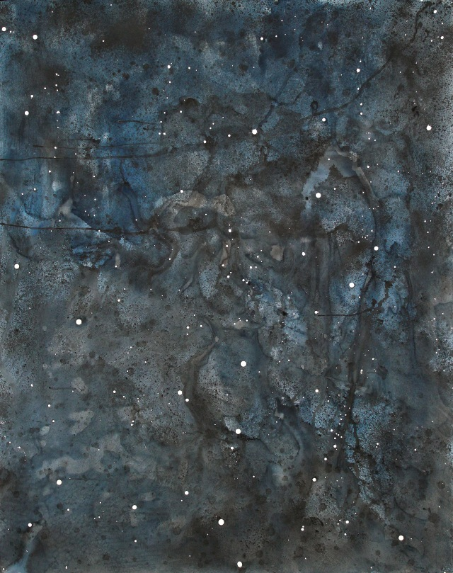 © Wilhelm Roseneder. Sternenbild/Constellation Nr. 5102009, 2009. Aquarell, chinesische Reibetusche auf Papier/Watercolour,chinese ink on paper, 2.00x1.52 cm