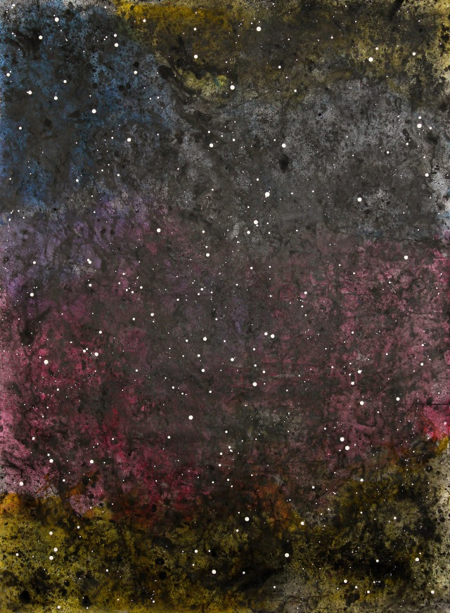 © Wilhelm Roseneder. Sternenbild/Constellation Nr. 5130610, 2010. Aquarell, chinesische Reibetusche auf Papier/Watercolour,chinese ink on paper, 2.05x1.52 cm