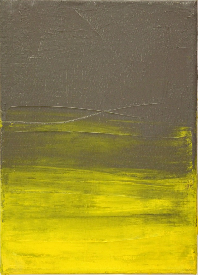 © Wilhelm Roseneder. Gelb, grau/Yellow, grey, 2004. Öl auf Leinwand/Oil on canvas, 35x25 cm