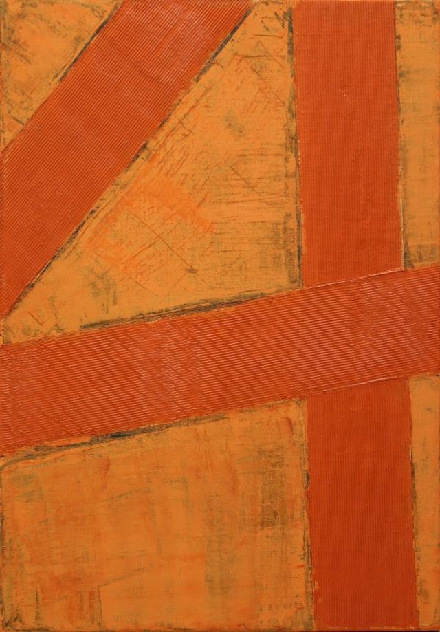 © Wilhelm Roseneder. Kreuzung II, 1996. Öl auf Leinwand/Oil on canvas, 40x60 cm