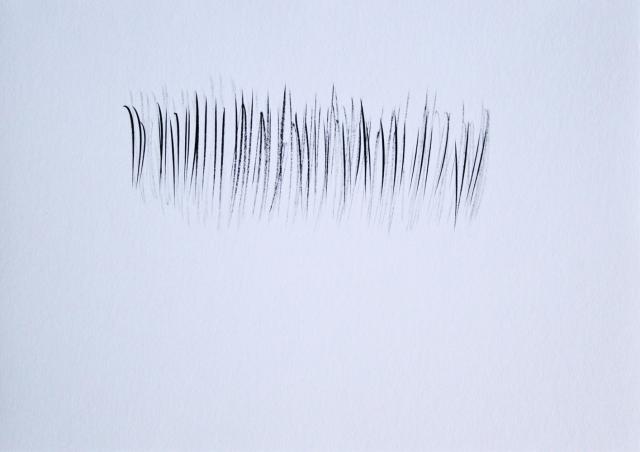 © Renate Egger. Strukturen/Structures III, 2011. Chinesische Tusche auf Papier/Chinese ink on paper, 24x34 cm