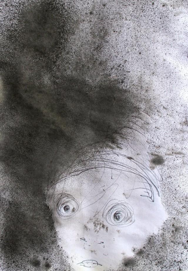 © Wilhelm Roseneder. Gnom/Gnome, 2011. Graphit, chinesische Reibtusche auf Papier/Graphite, Chinese ink on paper, 14,6x20,9 cm