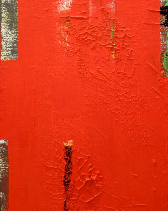 © Wilhelm Roseneder. Azraq, 2002. Öl auf Leinen, Karton/Oil on canvas, cardboard, 41.5x32,8 cm