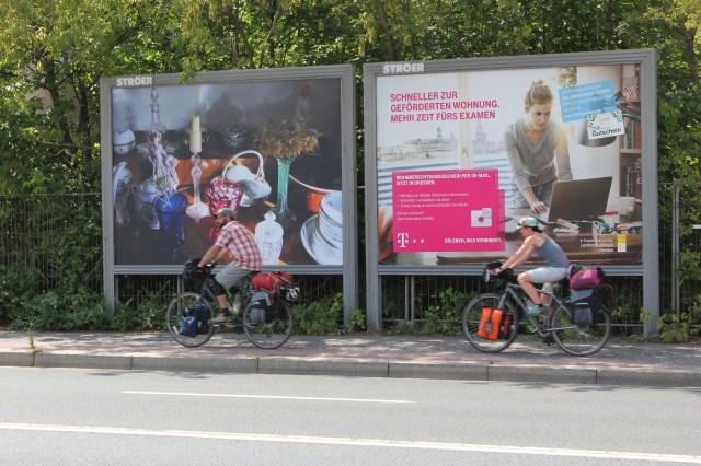 © Renate Egger. Memory collection, 2005. Dresden Public Art View. International Billboard Exhibition, Dresden, Germany 2014