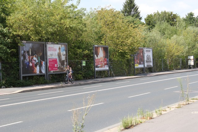 © Renate Egger. Memory collection, 2005. Dresden Public Art View. International Billboard Exhibition, Dresden, Germany 2014